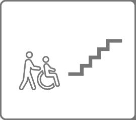 階段があり、移動に困っている